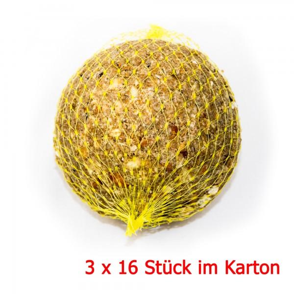 Ganzjahres Riesenmeisenknödel mit Netz 500 g in Folie 3 x 16 Stück