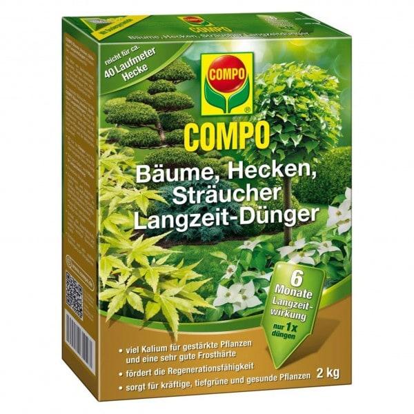 COMPO Bäume, Hecken, Sträucher Langzeit-Dünger 2 kg Schachtel