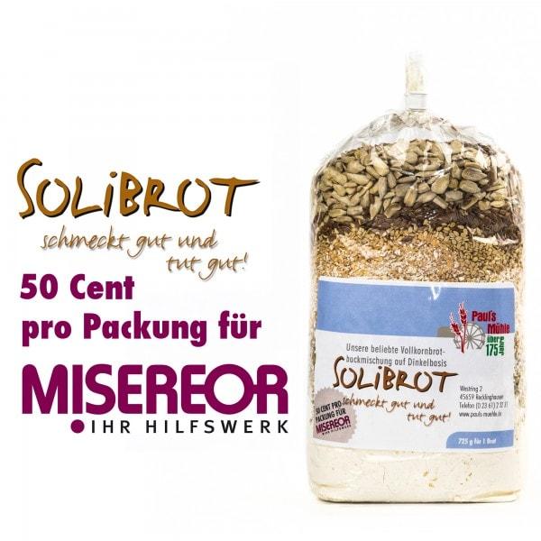 Spenden-Aktion SOLIBROT: Pauls Mühle Dinkel-Brotmischung, 725 Gramm