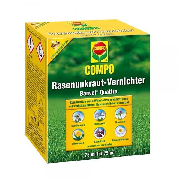 COMPO Rasenunkraut-Vernichter Banvel® Quattro 75 ml (Flasche mit Dosierbecher)