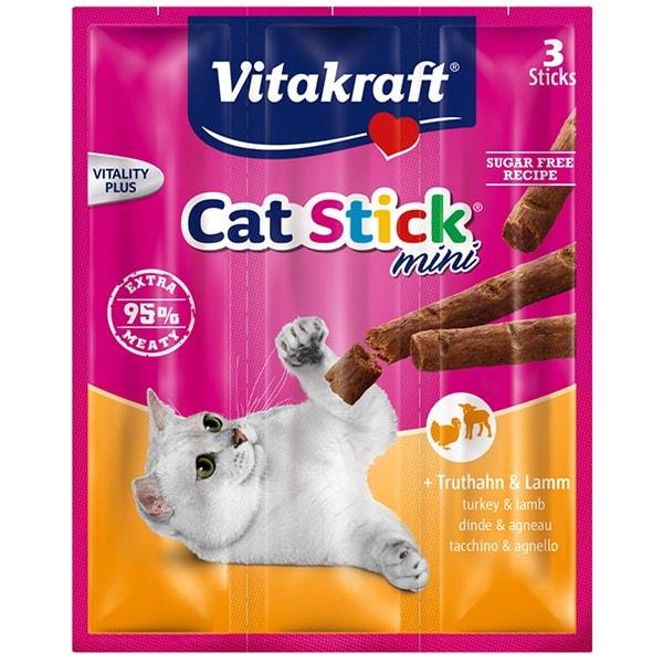 Vitakraft Cat Stick ® mini + Truthahn & Lamm 3 Stück 18 g