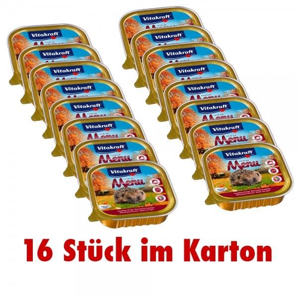Vitakraft Igelfutter Premium Menü Nassfutter 16 x 100 g