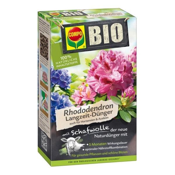 COMPO BIO Rhododendron- und Hortensien Langzeit-Dünger mit Schafwolle 750 g Schachtel