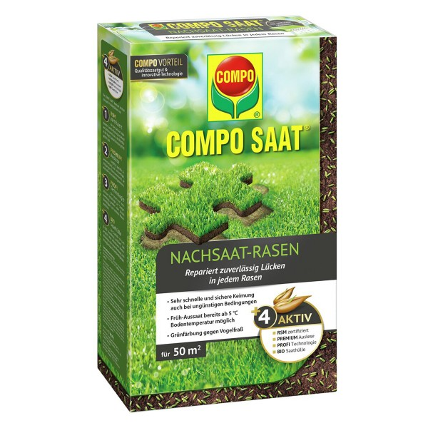 COMPO SAAT® Nachsaat-Rasen 1 kg 50 m² Schachtel