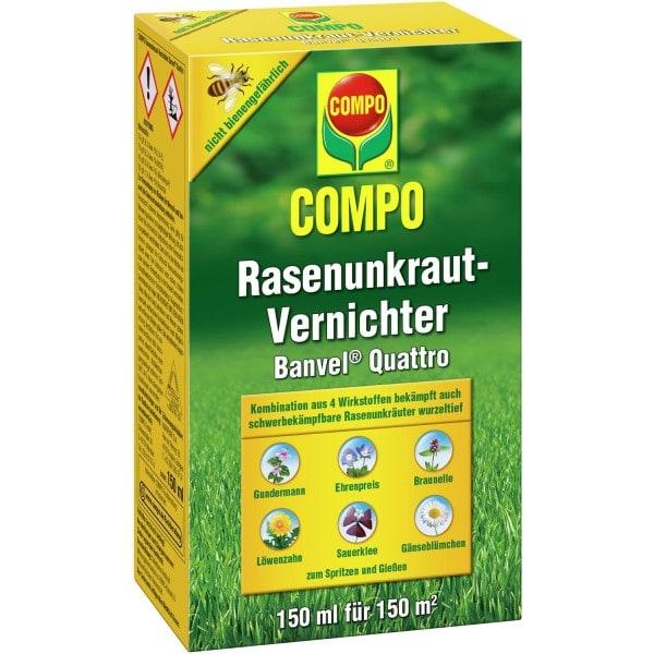 COMPO Rasenunkraut-Vernichter Banvel® Quattro 150 ml (Flasche mit Dosierbecher)