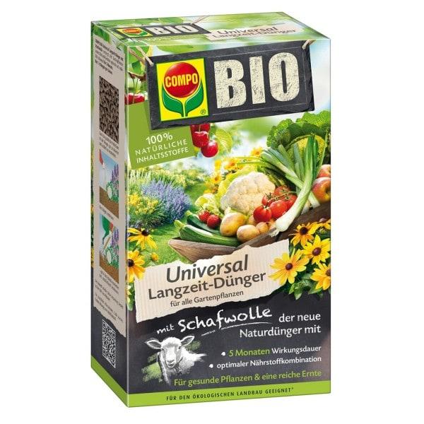 COMPO BIO Universal Langzeit-Dünger mit Schafwolle 2 kg Schachtel