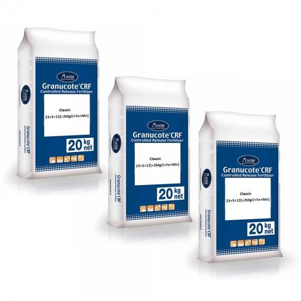 Granucote CRF Classic 23+5+12 (+2MgO+Fe+Mn) Erhaltungs-Rasendünger 3 x 20 kg