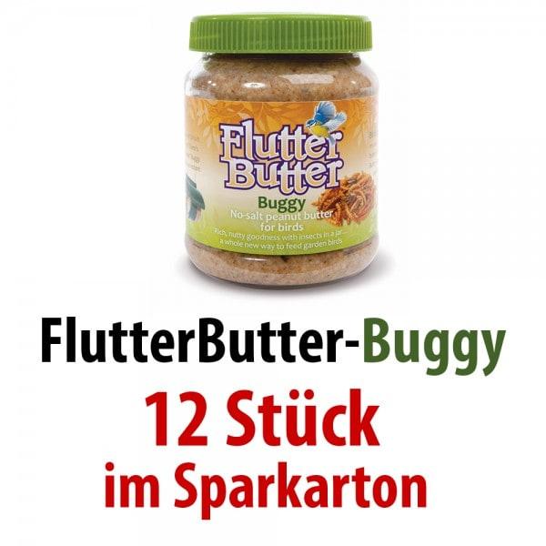 Flutter-Butter-Erdnussbutter Buggy 12 Stück je 330 g im SPARKARTON
