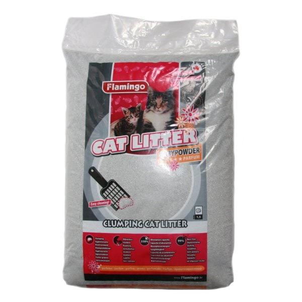 Flamingo Cat Litter Babypowder 15 kg