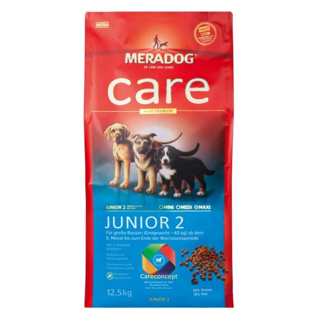 meradog care junior 2 12 5 kg junior 2 care high premium care aufzucht meradog. Black Bedroom Furniture Sets. Home Design Ideas
