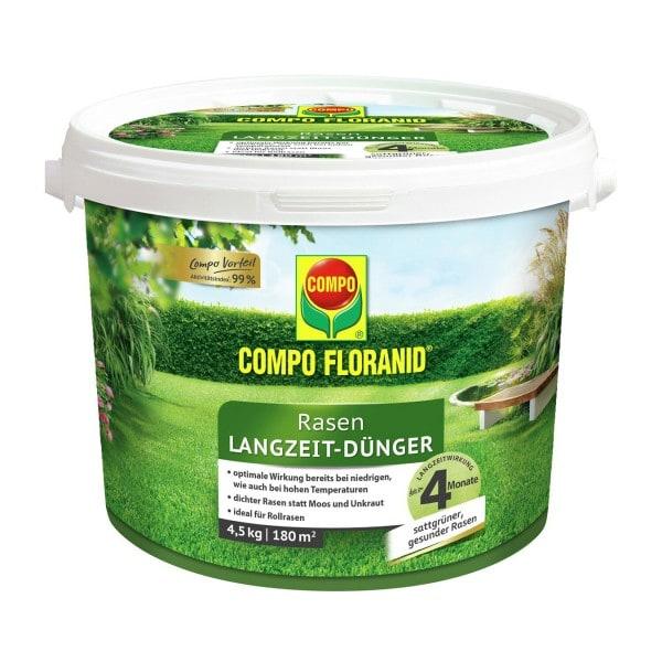 COMPO FLORANID® Rasen Langzeit-Dünger 4,5 kg / 180 m² Eimer