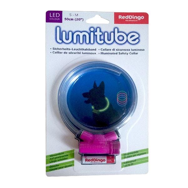 RedDingo lumitube Sicherheits-Leuchthalsband violett S - M (15 - 50 cm)