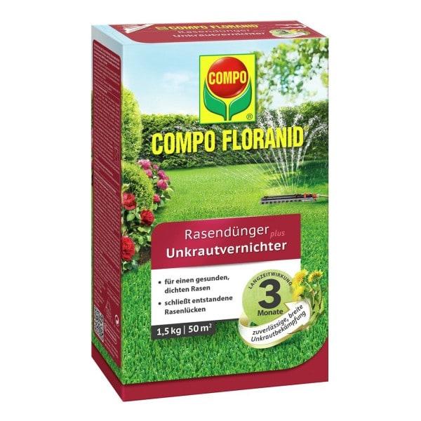 COMPO FLORANID® Rasendünger plus UV 1,5 kg / 50 m² Schachtel