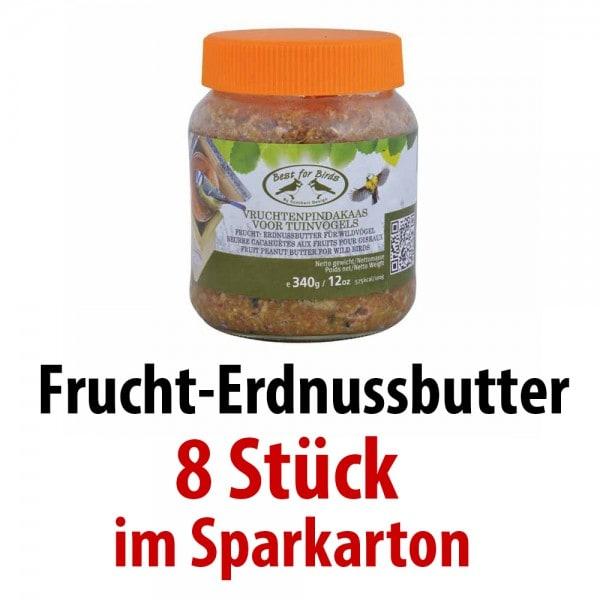FB252 Frucht-Erdnussbutter proteinreich 8 Gläser im SPARKARTON je 340 g