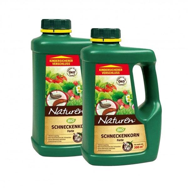 NATUREN® Bio Schneckenkorn Forte 2 x 950 g für 600 m² SONDERPREIS