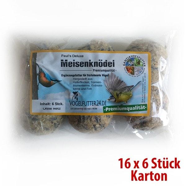 Paul´s Deluxe Meisenknödel (Sauerland) - ohne Netz - 16 Packungen x 6 Stück im SPARKARTON