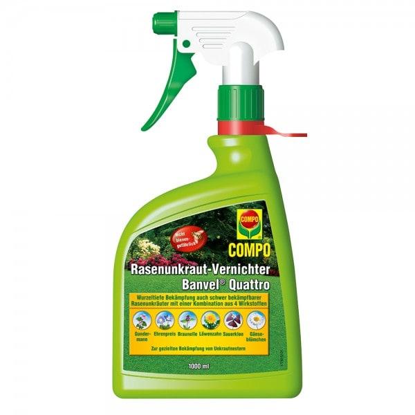 COMPO Rasenunkraut-Vernichter Banvel® Quattro AF 1000 ml (Handsprühflasche)