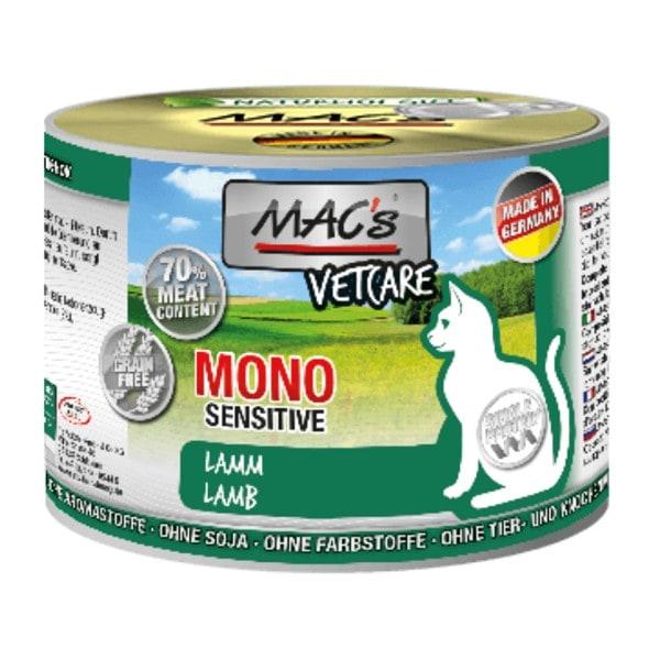 MAC's Cat Vetcare MONO Sensitive Lamm 200 g Dose