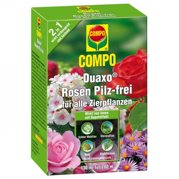 COMPO Duaxo® Rosen Pilz-frei für alle Zierpflanzen 130 ml für 280 m²