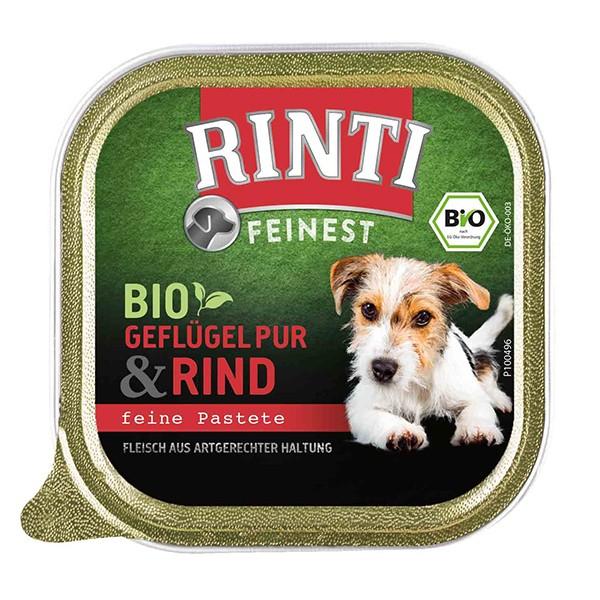 Rinti Feinest Bio (DE-ÖKO-003) Geflügel pur & Rind 150g Schale
