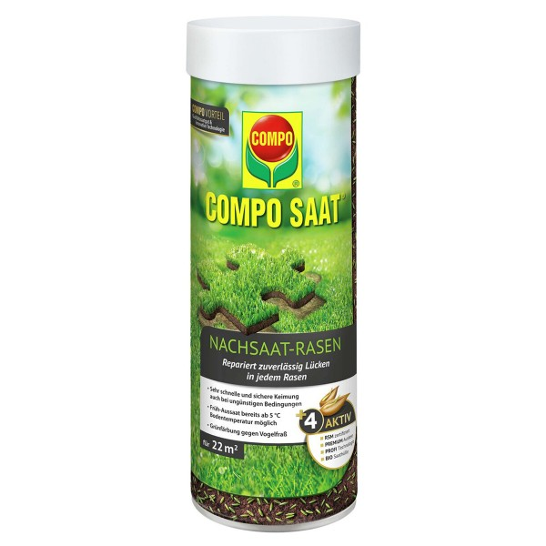COMPO SAAT® Nachsaat-Rasen 440 g 22 m² Streudose