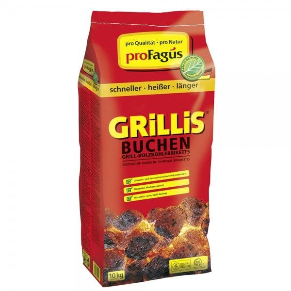 proFagus Buchen Grill-Holzkohlebriketts 'GRiLLiS' 10 kg