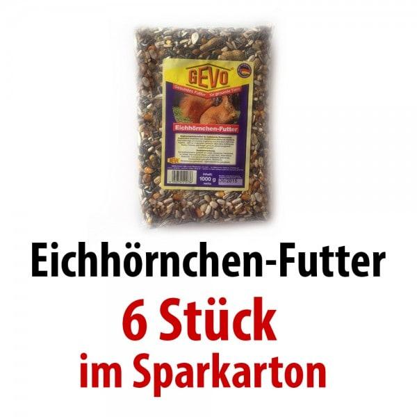 Gevo Eichhörnchenfutter Super-Premium 6 x 1 kg im SPARKARTON