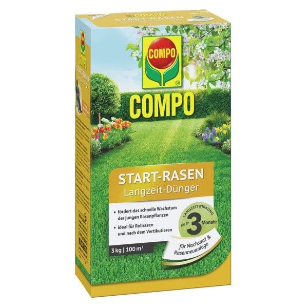 COMPO Start-Rasen Langzeit-Dünger 3 kg / 100 m² Schachtel