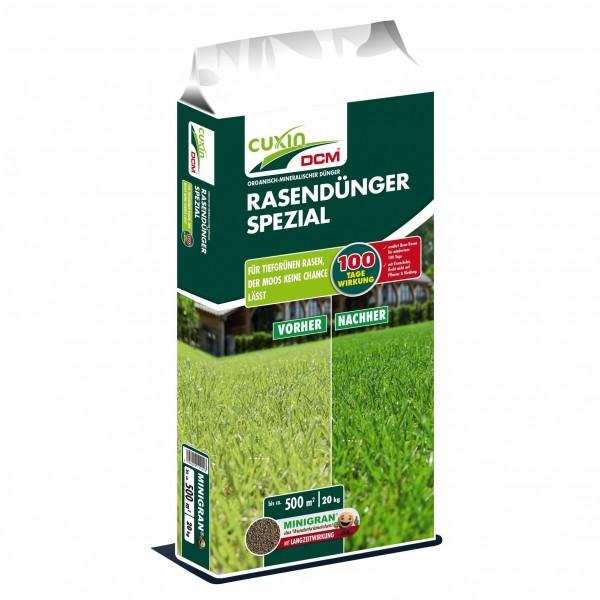 Cuxin DCM Rasendünger Spezial 12-4-6 + 2 MgO + 0,1 Fe-Chelat 20 kg für 500 m²
