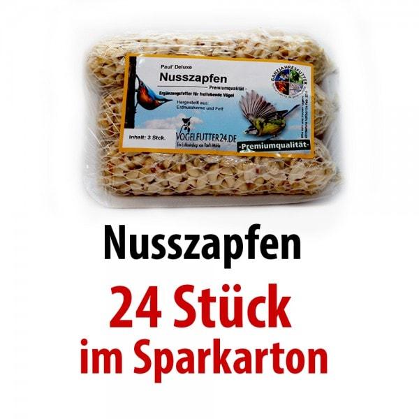 Pauls Deluxe Nusszapfen (Sauerland) 24 Packungen mit je 3 Zapfen im SPARKARTON