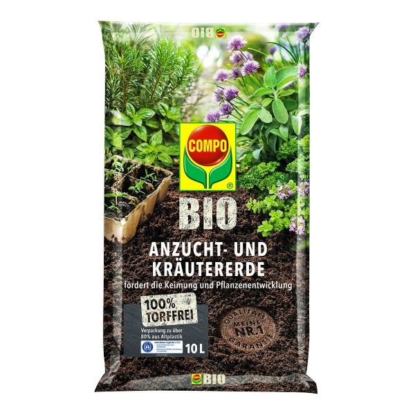COMPO BIO Anzucht- und Kräutererde 10 Liter