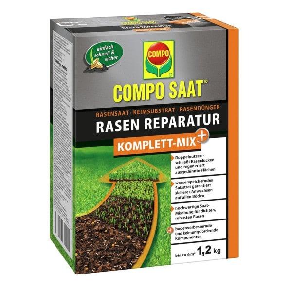 COMPO SAAT® Rasen Reparatur Komplett-Mix+ NEU 1,2 kg / 6 m²