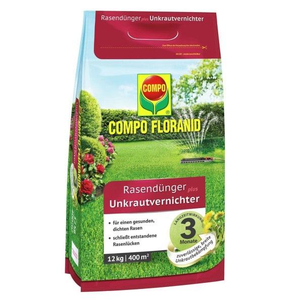 COMPO FLORANID® Rasendünger plus UV 12 kg / 400 m² Beutel