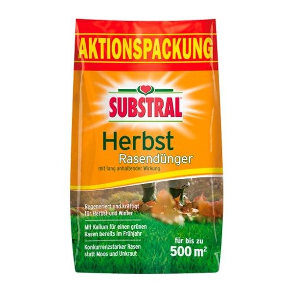 SUBSTRAL Herbst Rasendünger 12,5 kg für 500 m²