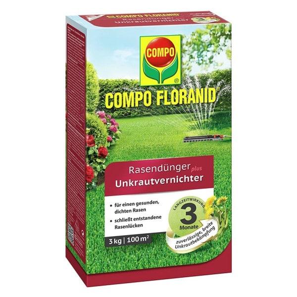 COMPO FLORANID® Rasendünger plus UV 3 kg / 100 m² Schachtel