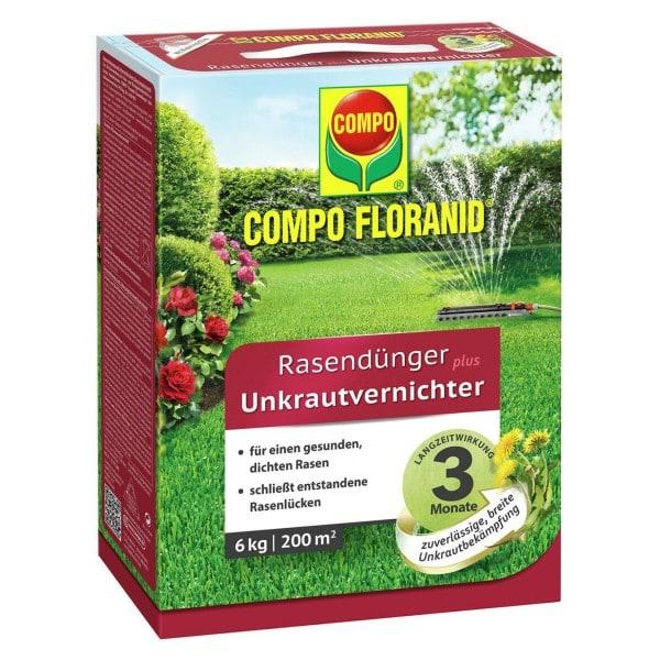 COMPO FLORANID® Rasendünger plus UV 6 kg / 200 m² Schachtel