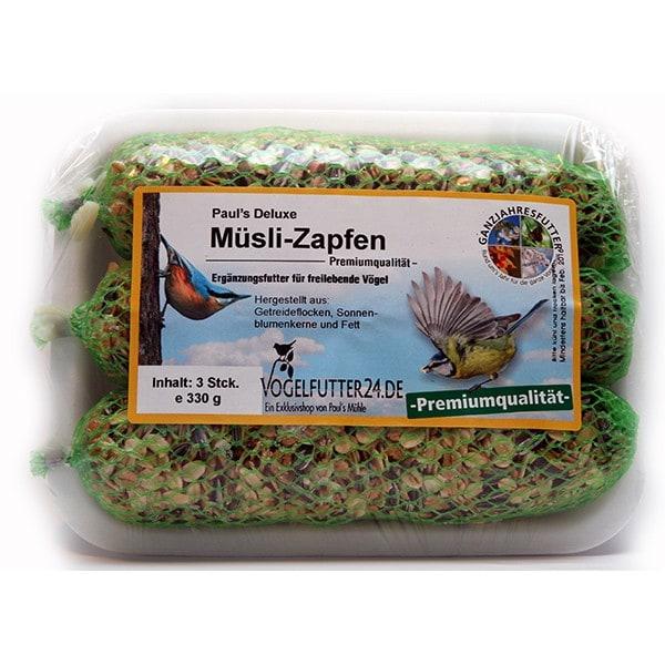Pauls Deluxe Müslizapfen - Premiumqualität - 3 Stück 330 g (Sauerland)