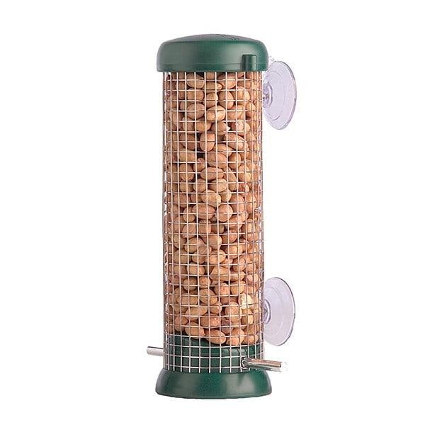 Fensterfütterer für Erdnüsse, grün, Ø 7,5 cm, Höhe: 22 cm, Modell 00837/4