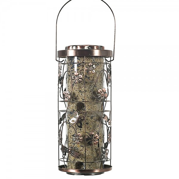 WOODSTREAM Opus Kupfer Meadow-Vogelfutterspender Modell 570 (Lieferung ohne Futter)