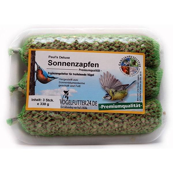 Pauls Deluxe Sonnenzapfen - Premiumqualität - 3 Stück 330 g (Sauerland)