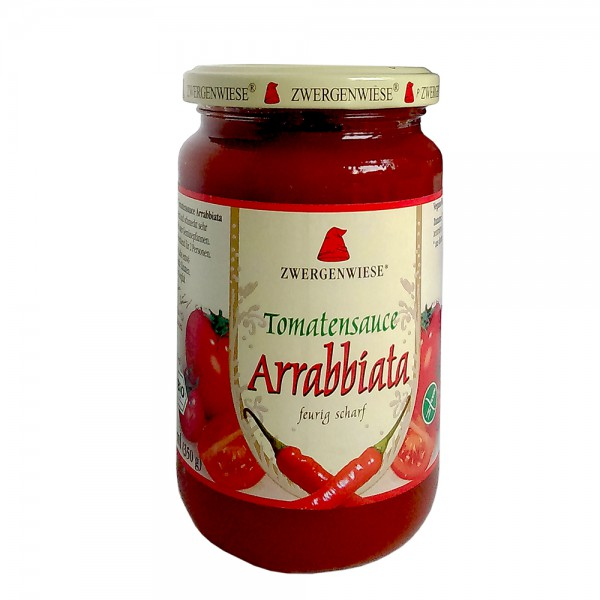"""Zwergenwiese Tomatensauce """"Arrabbiata"""" scharf 340 g"""