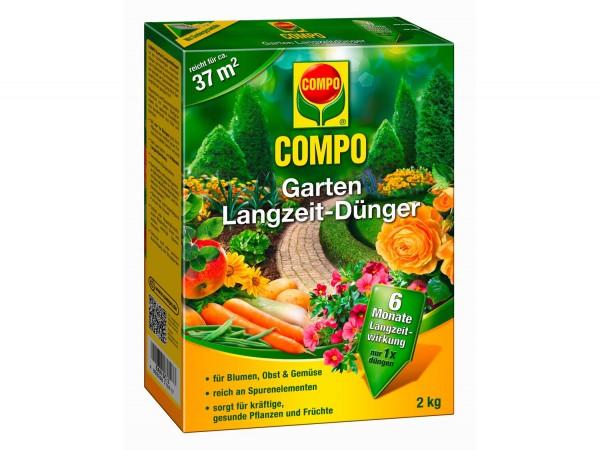 COMPO Garten Langzeit-Dünger 2 kg Schachtel