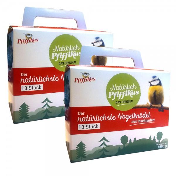 Pfiffikus Natürliche Vogelknödel aus Insektenfett 2 x 18 Stück