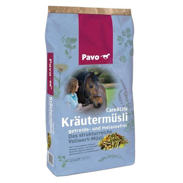 Pavo Care4Life STRUKTURREICHES KRÄUTERMÜSLI FÜR DIE TÄGLICHE FÜTTERUNG 15 kg
