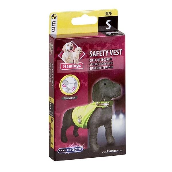 Karlie Day & Night Safety Dog Sicherheitsweste Größe S neongelb Länge: 24 cm