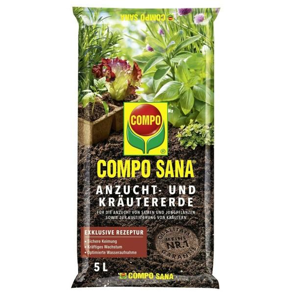 COMPO SANA Anzucht- und Kräutererde 5 Liter