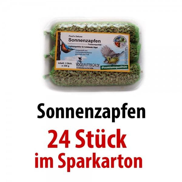 Pauls Deluxe Sonnenzapfen (Sauerland) 24 Packungen mit je 3 Zapfen im SPARKARTON