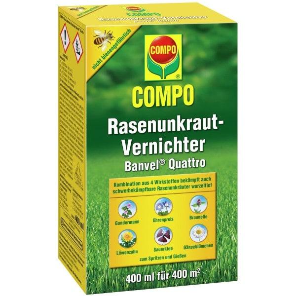 COMPO Rasenunkraut-Vernichter Banvel® Quattro 400 ml (Flasche mit Dosierbecher)