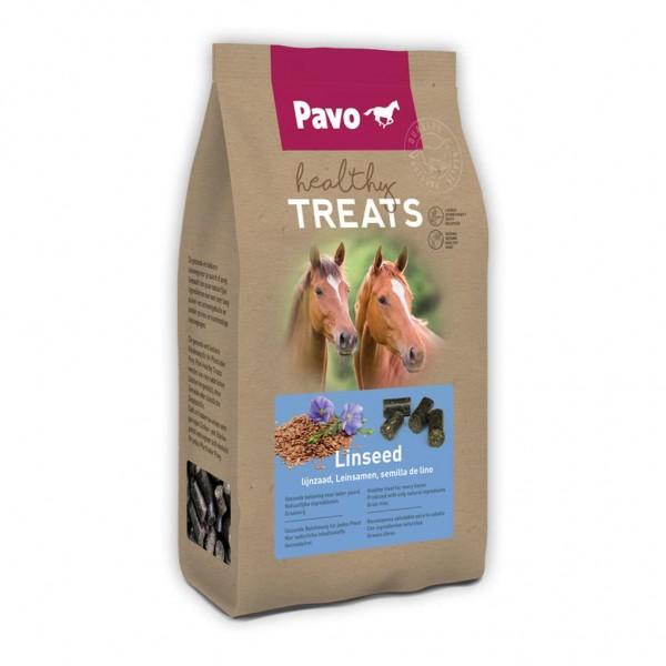 Pavo Healthy Treats GESUNDE UND SCHMACKHAFTE PFERDELECKERLIS Leinsamen 1 kg